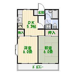 東京都葛飾区堀切1丁目の賃貸マンションの間取り