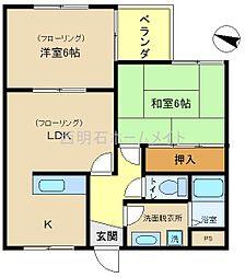 ピュアメゾントリイ[3階]の間取り