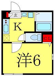 都営三田線 西巣鴨駅 徒歩7分の賃貸マンション 3階1Kの間取り