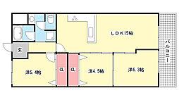 岡本センチュリーマンション[4階]の間取り