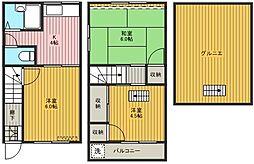 コーポ松江[102号室]の間取り