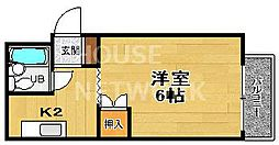 京都府京都市上京区一条通御前西入ル大東町の賃貸マンションの間取り