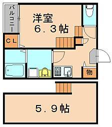 カルペディエム[2階]の間取り