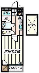 埼玉県さいたま市浦和区北浦和2丁目の賃貸アパートの間取り