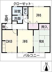 愛知県知多郡武豊町大字東大高字塔ノ下の賃貸アパートの間取り