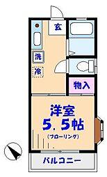 千葉県市川市福栄1の賃貸アパートの間取り
