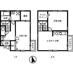 徳島県徳島市安宅2丁目の賃貸アパートの間取り