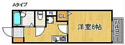 プリシェール味園I[2階]の間取り