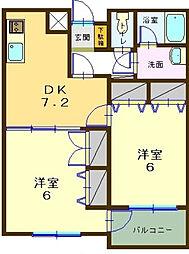 KONA PARK AVENUE 珠松庵[207号室]の間取り