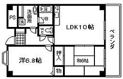 ライオンズマンション泉南樽井第2[1階]の間取り