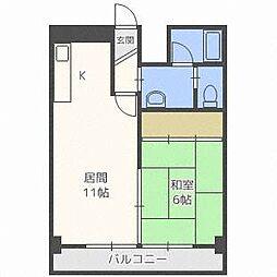 第8松井ビル[3階]の間取り