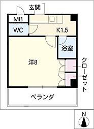 HKマンション北沢西棟[1階]の間取り