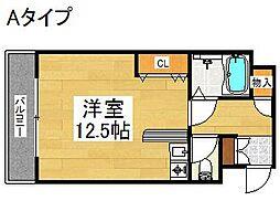 シャトーイズミ[4階]の間取り