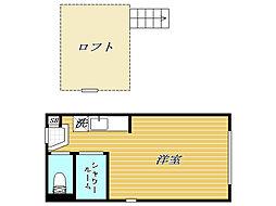 東十条デザイナーズ賃貸コーポ[1階]の間取り