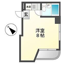 ホワイトハウス新栄[5階]の間取り
