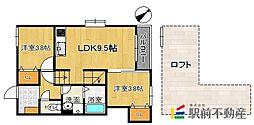 maison de ballon fukutsu[2階]の間取り