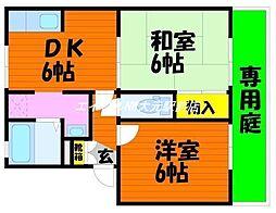 イーストヴィレッジ A棟[1階]の間取り