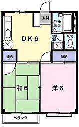 広島県福山市東川口町3の賃貸アパートの間取り