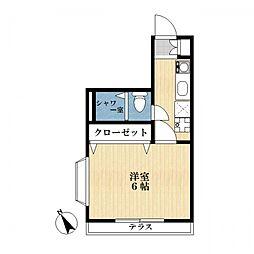 メゾンリバティ[1階]の間取り