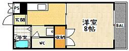 山科ガーデンハイツ[1階]の間取り