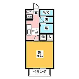 クレール21[1階]の間取り