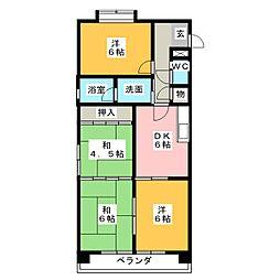 ロイヤル山田[3階]の間取り