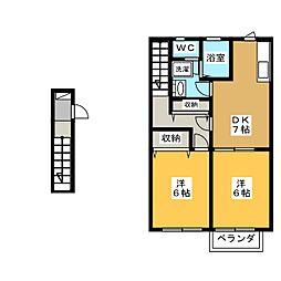 メゾン・ド・ファミーユ[2階]の間取り