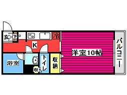 仙台市営南北線 広瀬通駅 徒歩7分の賃貸マンション 9階1Kの間取り