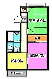 埼玉県新座市新堀2の賃貸マンションの間取り