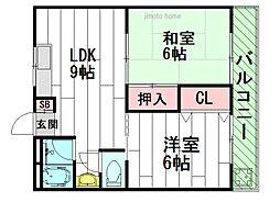 第3関根マンション[2階]の間取り