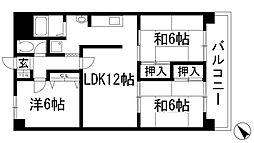 篠崎マンション[1階]の間取り