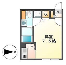 グランディール覚王山[4階]の間取り
