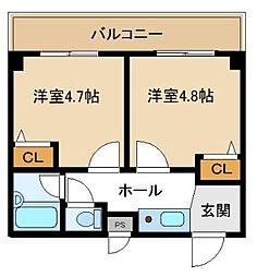 神奈川県横浜市緑区鴨居1丁目の賃貸マンションの間取り