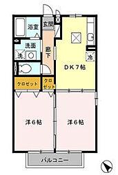 神奈川県藤沢市本藤沢1丁目の賃貸アパートの間取り