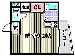 WIN長滝駅前[203号室]の間取り