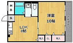 レオハイム津田I[3階]の間取り