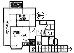 石井アパート[2F号室]の外観