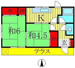 [一戸建] 千葉県柏市篠籠田 の賃貸【/】の間取り
