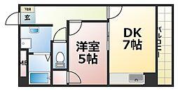 西明石ピア[603号室]の間取り