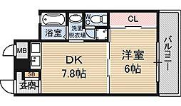 サムティイースト新大阪[6階]の間取り