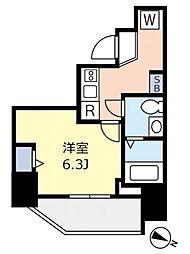 東京メトロ千代田線 千駄木駅 徒歩3分の賃貸マンション 8階1Kの間取り