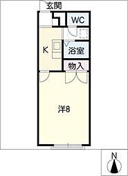 アムールラフレシア[2階]の間取り