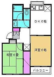千葉県松戸市東平賀の賃貸マンションの間取り