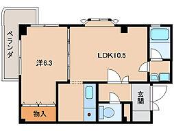 レスペート西庄III[3階]の間取り