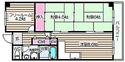 阪神ハイグレードマンション7番館[6階]の間取り