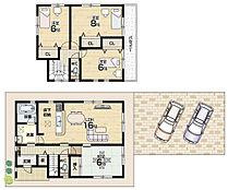 全居室収納付・対面キッチン
