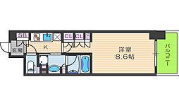 ザ・パークハビオ堂島[9階]の間取り