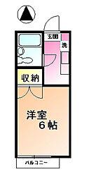 メゾンオザキ[2階]の間取り
