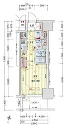 Osaka Metro中央線 阿波座駅 徒歩5分の賃貸マンション 15階1Kの間取り