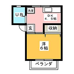 リバーサイド52[2階]の間取り
